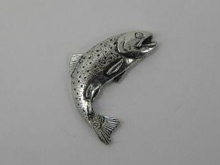 Forelle Pin Anstecknadel Anstecker Button Angler Schmuck Fische Pinwand 29.  F1 Bild