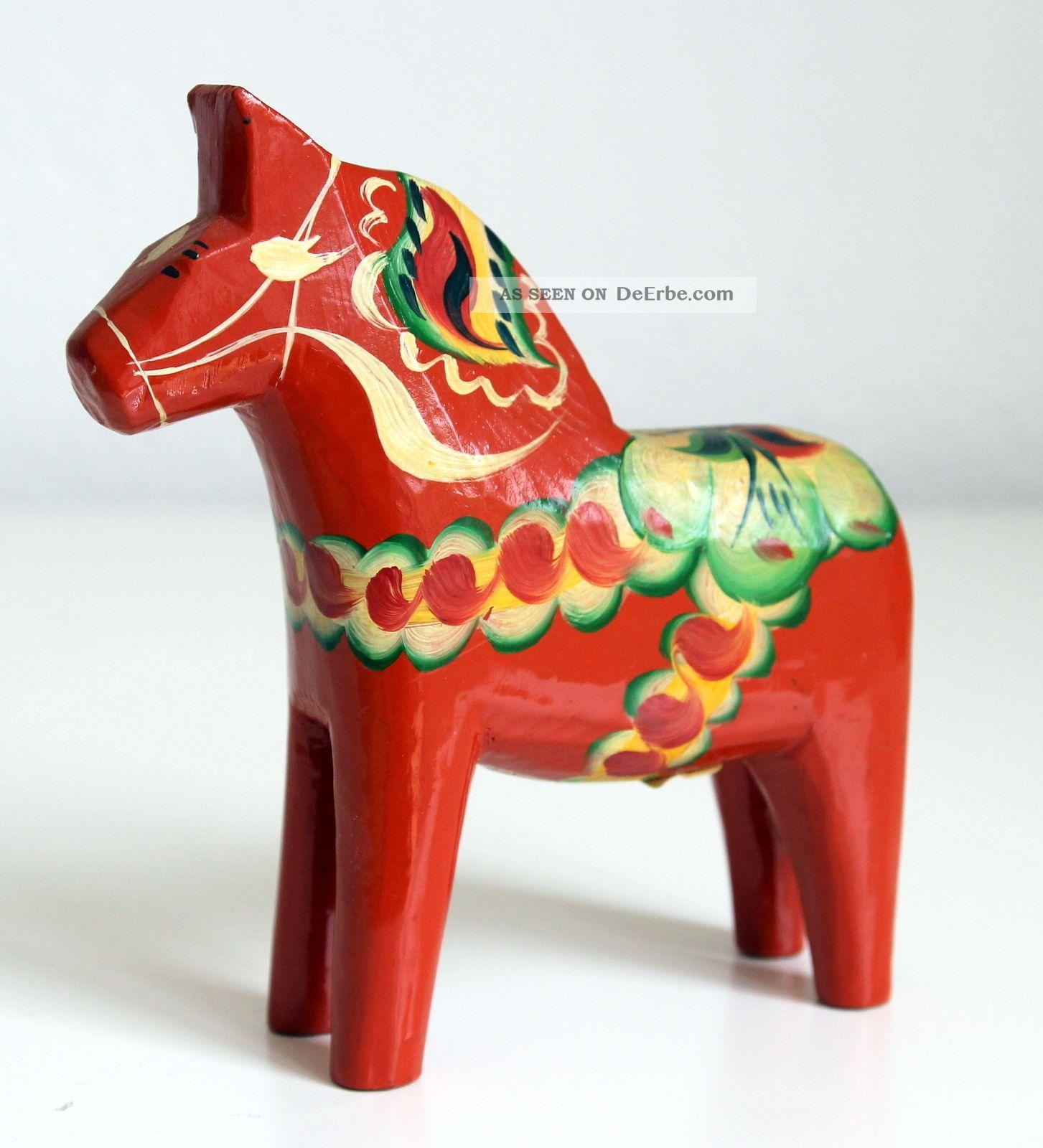 Dalarna Pferd dalapferd dalarnapferd äkta sweden olsson 13 cm vintage mit