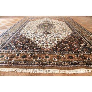 Königlicher Handgeknüpfter Orient Palast Teppich Nain Kum Carpet Rug 300x200cm Bild