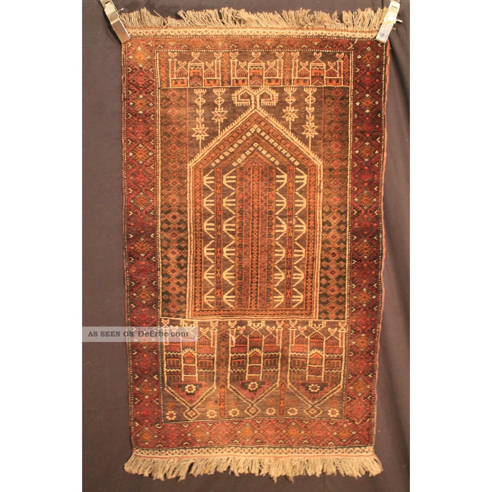 alter handgekn pfter orient teppich belutsch art deco old carpet tapis 140x77cm. Black Bedroom Furniture Sets. Home Design Ideas
