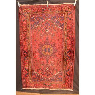 Alter Handgeknüpfter Orient Teppich Herati Biedjar Rug Carpet Tappeto 210x133cm Bild