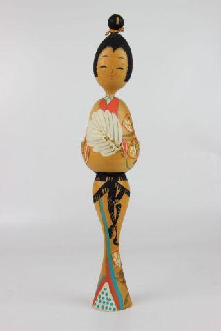 Vintage Japan Japanese Kokeshi Doll Puppe Holz Mit Stempel Bild