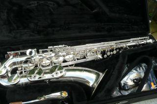 Tenor Saxophon Yamaha Yts - 62 Versilbert,  Absolut Neuwertig Bild