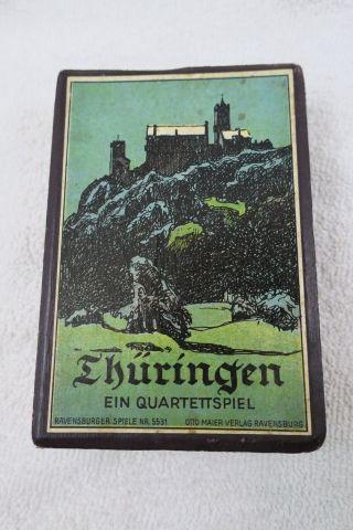 Altes Kartenspiel Thüringen Quartettspiel Komplett In Pappschachtel Gut Erhalten Bild