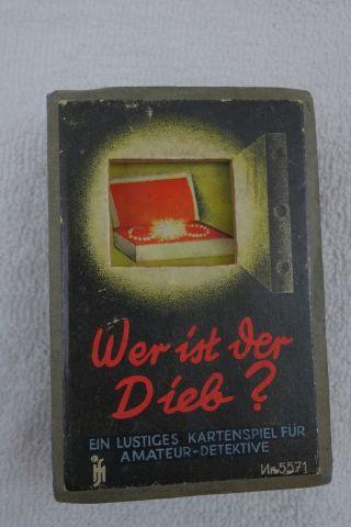Altes Kartenspiel Wer Ist Der Dieb? Vollständig Mit Altersgemäßen Gebrauchssp. Bild