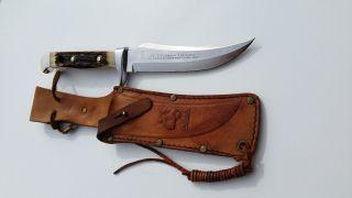 Puma Skinner Jagd Messer 6373 Unbenutzt Von 1974 Knife Couteau Germany Solingen Bild
