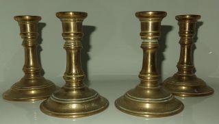 4 Kerzen - Ständer Gilde Handwerk Gold - Messing Bronze ? 70er Jahre Vintage Bild