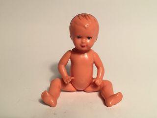 Kleine Alte Puppe Püppchen E.  S.  - W.  Germany - Lustiger Gesichtsausdruck : -) Bild