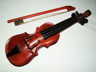 Tintoy,  Blechspielzeug,  Blech Geige M.  Holzschaft 29 Cm,  Bogen,  Foreign,  Selten Bild