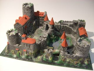 Große Ritterburg Mit Zugbrücke Timpo Elastolin Hausser Burg Ritter Vintage Tor Bild