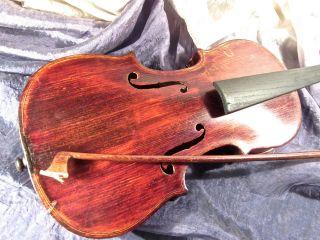 Geige,  Alt,  Schön,  1 Geigenbogen,  Geigenkasten,  Um 1900 Bild