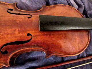 Alte,  Schöne Geige,  1 Geigenbogen,  Geigenkasten,  Um 1900 Bild