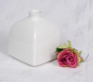 Kpm Berlin Weiß Klassische Vase Kantige Form Entwurf Trude Petri 11 Cm Bild