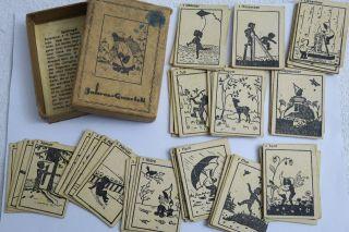 Uraltes Kartenspiel Jahres - Quartett Mit 48 Kleinen Spielkarten U Anl.  Komplett Bild