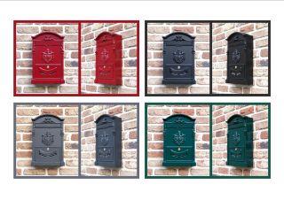 Italienischer Briefkasten Aluguss Antik Look Din A4 Bild