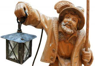 Holzschnitzfigur - Holzschnitzerei - Wood Carving - Night Watchman Bild