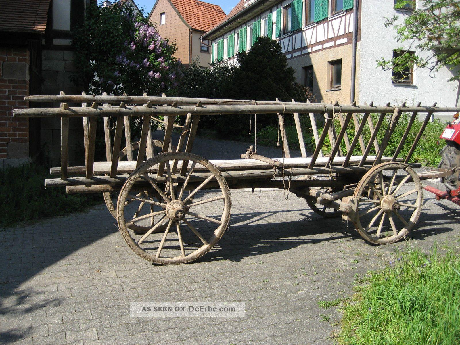 Antiker Heuwagen Leiterwagen Aus Holz – Tolle Dekoration Bauer Bild