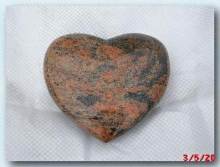 Granitherz,  Grabherz,  Granit,  Gewölbt,  Multicolor,  Poliert,  20x18x6cm, Bild
