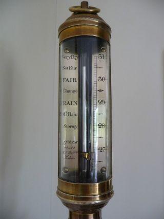 Antikes R.  N.  Desterro Lisbon Schiffsbarometer Bild
