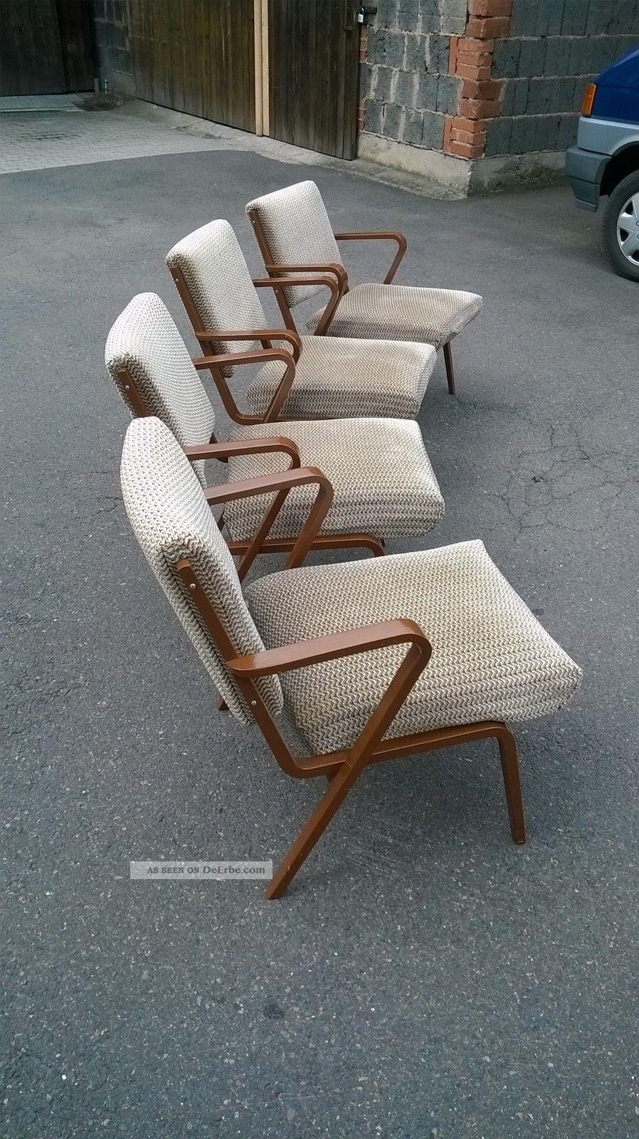 4x Design Sessel Stuhl Deutsche Werkstätten Hellerau 60er