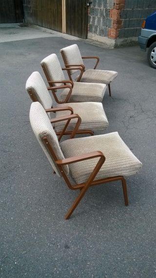 4x Design Sessel Stuhl Deutsche Werkstätten Hellerau 60er Selmann Selmanagic Bild