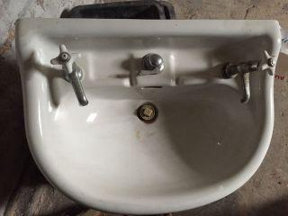 Keramag Wasch Tisch Antik Porzellan Keramik Waschbecken Alt Historisch Bild