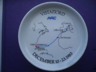 Norwegian American Cruises Rosenthal Porzellan Teller Vistafjord 1983 Bild