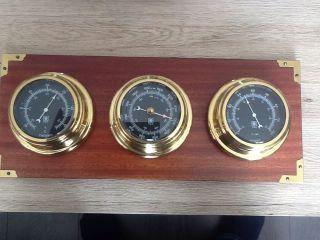 Vdo Maretime Wetterstation Messing Thermometer Barometer Hygrometer Bild
