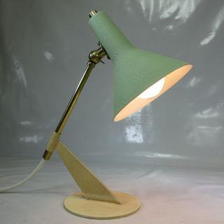 Org 60er Jahre Gelenk Tischlampe Kleine (25cm HÖhe) Tischleuchte Stil Novo Ära Bild