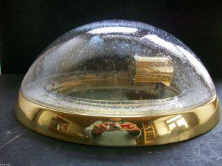 Hillebrand Luftblasenglas Leuchte Plafoniere / 70er - True Vintage - Space Age Bild