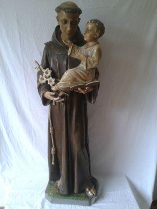 Hl.  Anthonius Mit Kind 130cm Bild
