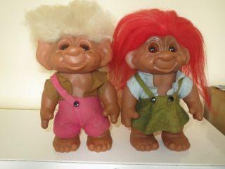 2 X Dam Trolls.  1979.  24 Cm.  Junge Und Mädchen. Bild