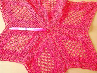Häkeldecke Sternförmig Rot Handarbeit Baumwolle Ca 55 Cm Durchmesser Bild
