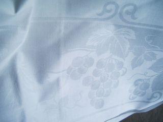 Tischwäsche Tischdecke Läufer Damast Weinrebe Neuzustand Bild