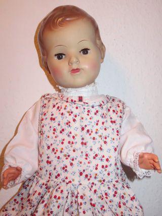 Alte Puppe Mädchen Gemarkt S 50 55 Cm Groß Bild