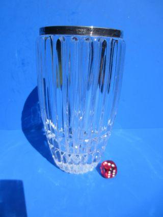 Vase Bleikristall Mit 925er Silberrand - Kristall - 16 Cm - Sterlingsilber Bild