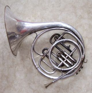 Altes Waldhorn Imperial Boosey & Hawkes London Horn Musik Instrument Bild