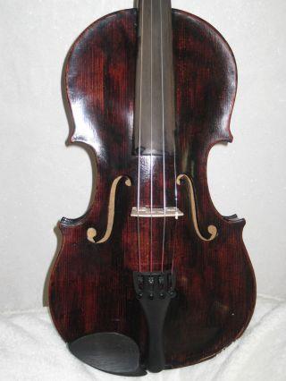 Sehr Alte Böhmische Spielbereite Geige Violine Weicher Klang Bild
