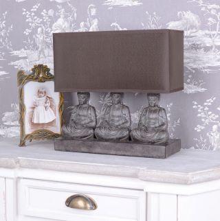 Feng Shui Leuchte FigÜrliche Tischlampe Buddha Figuren Tischleuchte Yoga Bild
