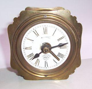 Uralter Lenzkirch Reisewecker Messing Emaille Tischuhr Uhr Wecker Watch Bild