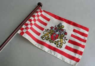 Tischflagge Staatsflagge Bremen,  Senatsflagge H:43cm Flagge Bild