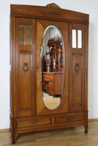 Kleiderschrank Louis Seize Frankreich Dielenschrank Eiche Schlafzimmer Antik Bild