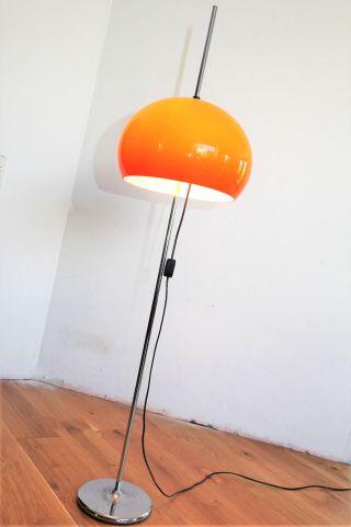 70er 60er Stehlampe Floor Lamp Lampada 60s Chrom Panton Ära Bild