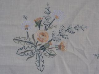 Löwenzahn - Motiv Handarbeit Stickerei Ca.  90x90 Cm Tisch - Mittel - Decke (084) Bild