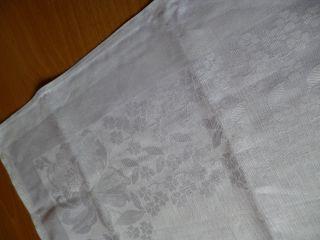 6 Damast - Servietten Ca.  47 X 47 Cm Jugendstil Weiß Unbenutzt Bild