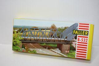 Faller B - 532 Alter Bausatz Kastenbrücke Rärität Ovp - Altkarton Bild