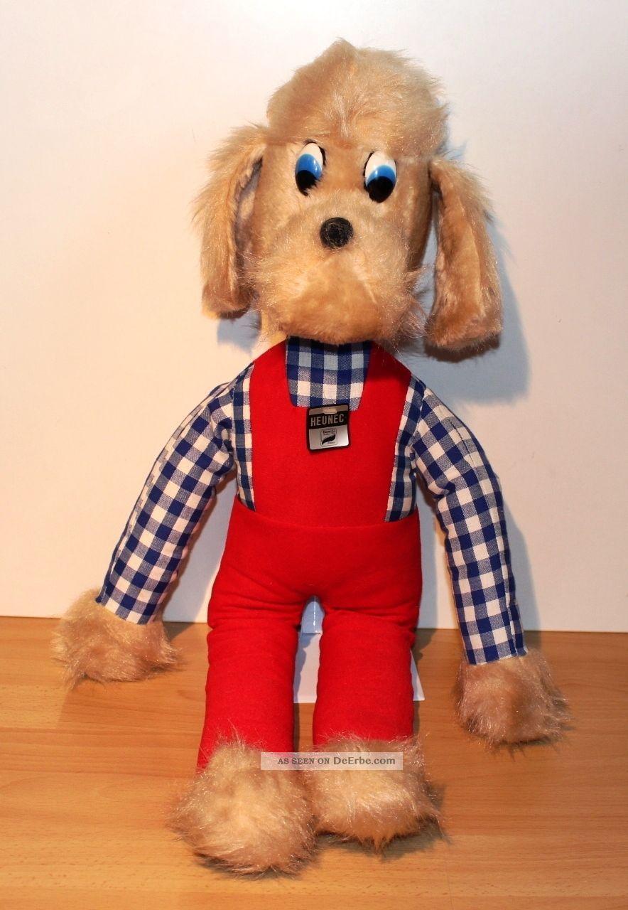 Xxl Heunec Plüsch Hund Bekleidet Alt 70er 80er Jahre Kuschel Stoff 75 Cm Groß Stofftiere & Teddybären Bild