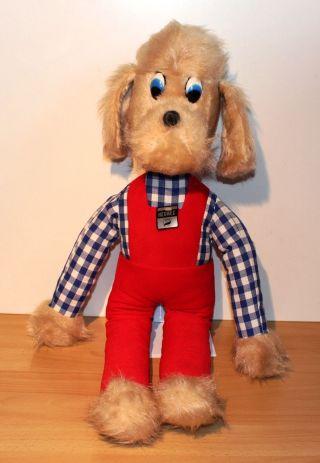 Xxl Heunec Plüsch Hund Bekleidet Alt 70er 80er Jahre Kuschel Stoff 75 Cm Groß Bild
