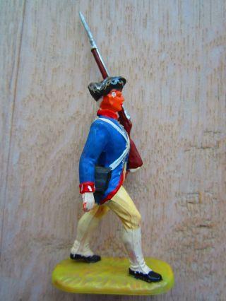 6 Rohlinge Marschierend Preussen Briten Engländer Amerikaner (top) Elastolin Bild