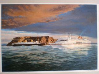 Maritim Kunst Gemälde Von Marinemaler Sachse,  Repro V.  1997 - Rarität Bild